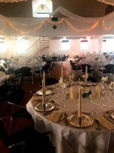 bryllup og fest i salen